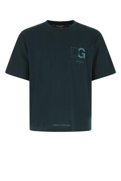 Petrol blue cotton t-shirt