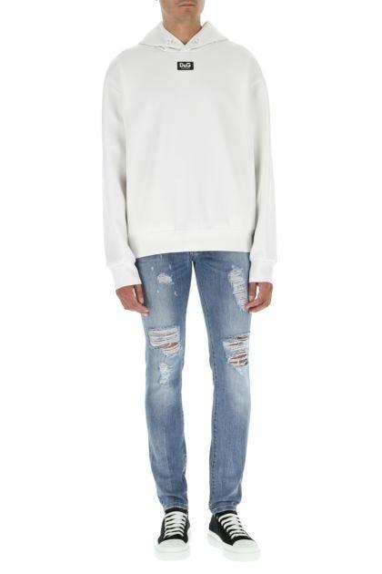 Chalk stretch polyester sweatshirt
