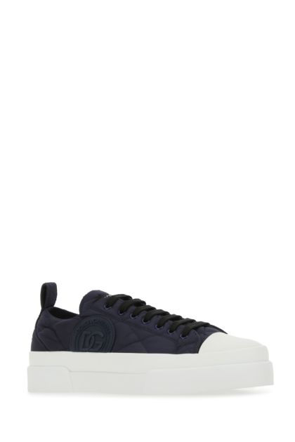 Navy blue fabric Portofino Light sneakers