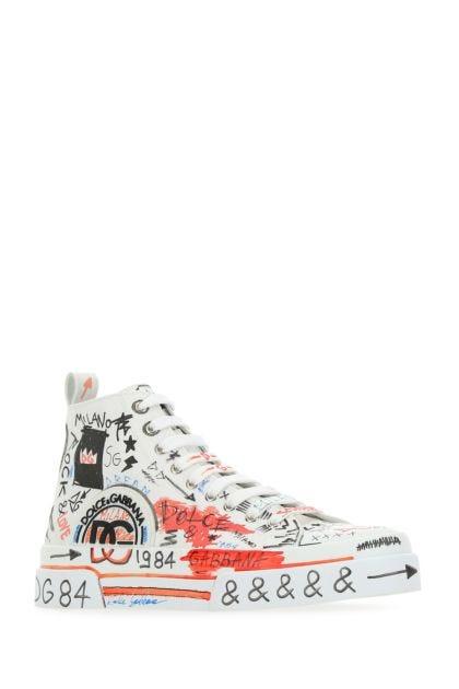 Printed canvas Portofino sneakers