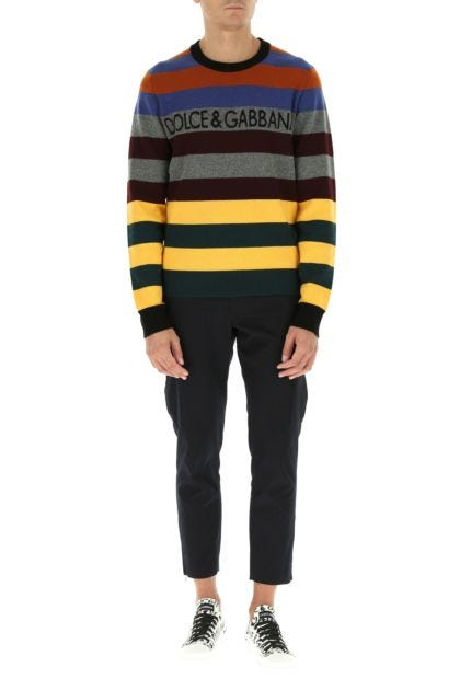 Multicolor cashmere sweater