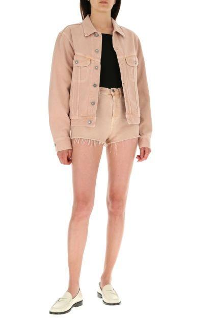 Powder pink denim jacket