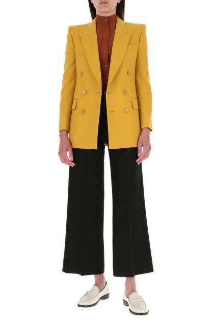 Mustard wool blazer