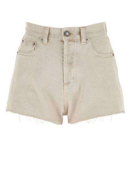 Sand denim shorts