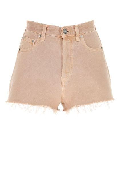 Powder pink denim shorts