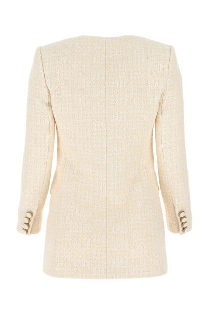Two-tone tweed blazer