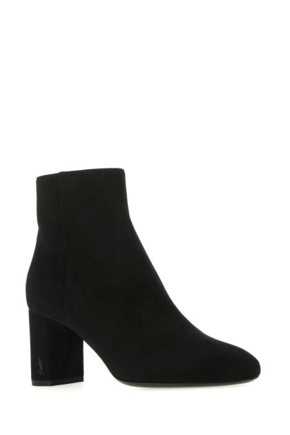 Black suede Loulou ankle boots