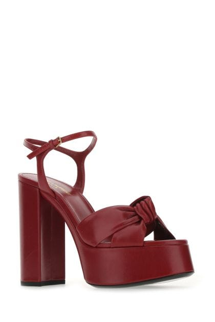 Burgundy leather Bianca sandals