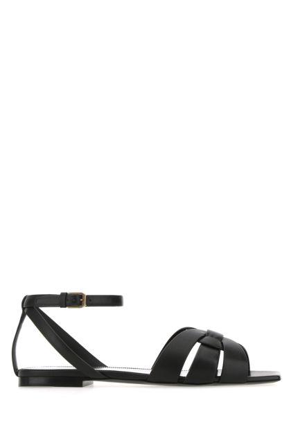 Black leather Tribute 05 sandals