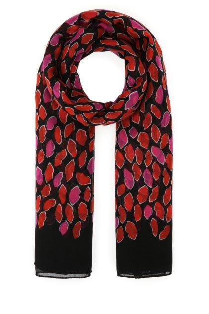 Printed wool scarf