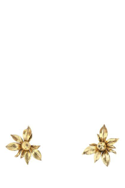 Gold brass Fruit earrings