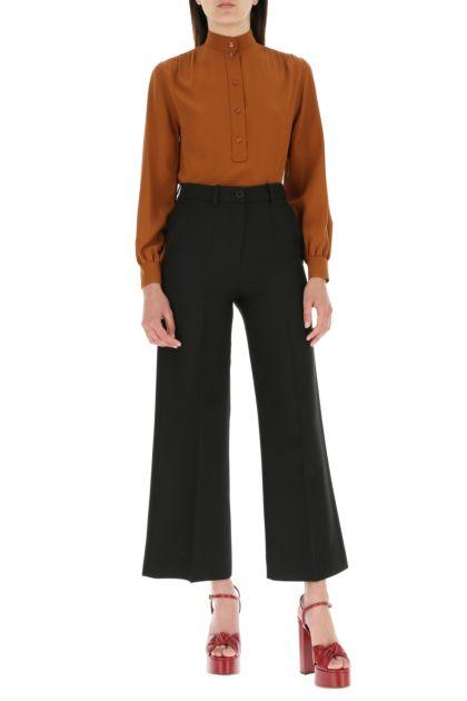 Caramel crepe blouse