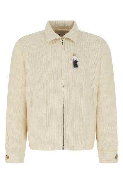 Ivory cotton Basketweave sweatshirt