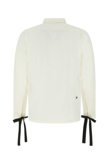 Ivory cotton Bow shirt