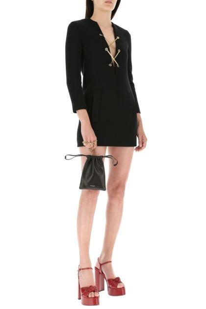 Black nappa leather Paris crossbody bag