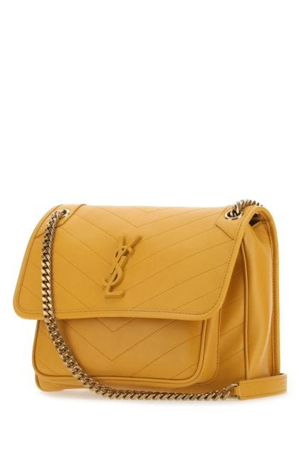 Ochre nappa leather Niki shoulder bag