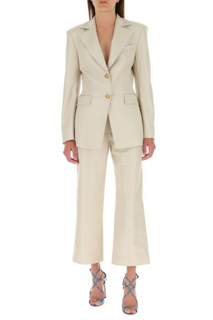 Cappuccino synthetic leather Hathi blazer