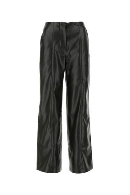 Black synthetic leather Namas pant