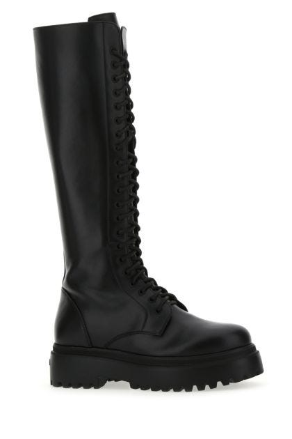 Black leather Ranger boots