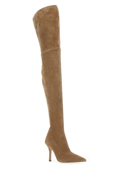 Biscuit suede Mama boots