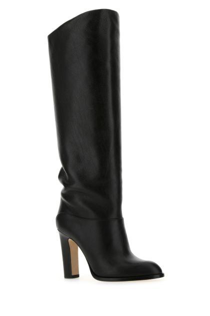 Black leather Kiki boots