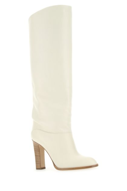 Ivory leather Kiki boots
