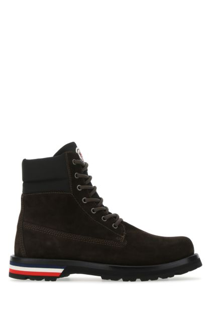 Chocolate suede Vancouver ankle boots