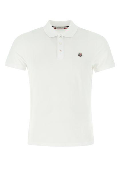 White piquet polo shirt