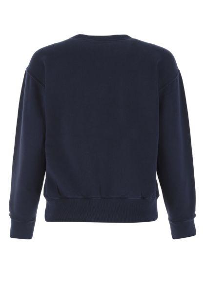 Navy blue cotton blend sweatshirt