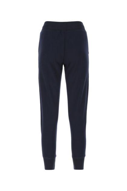 Blue cotton blend joggers