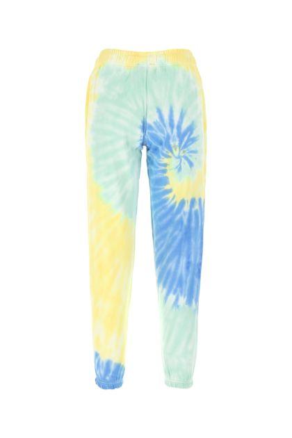 Tie-dye cotton joggers