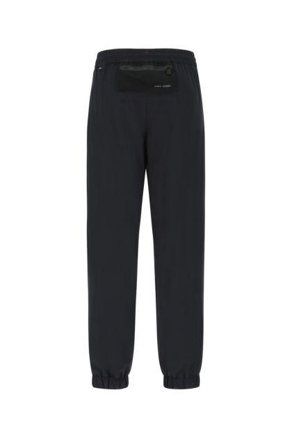 Black stretch nylon joggers