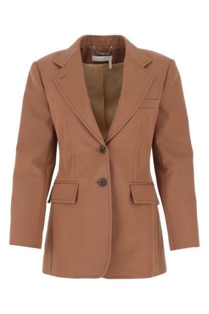 Caramel wool blazer
