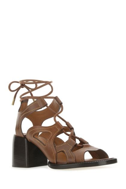 Brown leather Gaile sandals