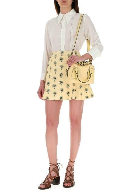 Pastel yellow leather small Daria handbag