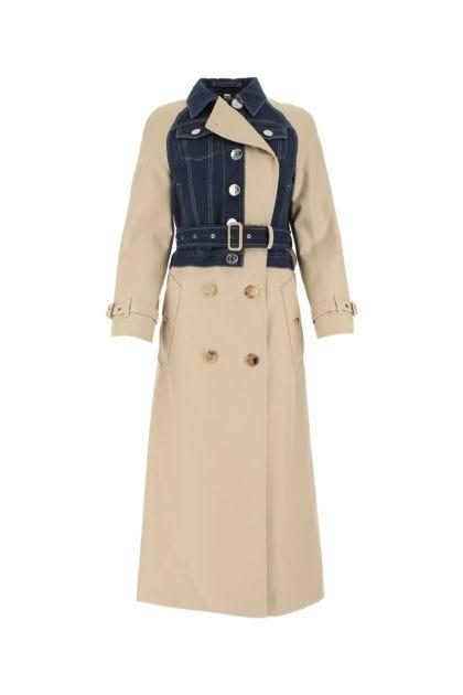 Cappuccino cotton trench coat