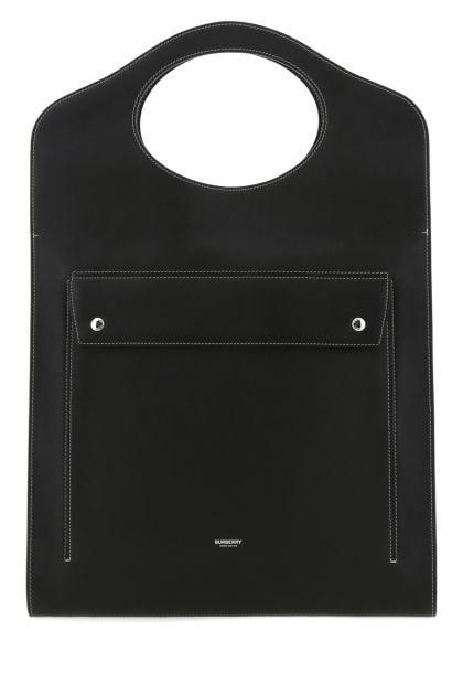 Black leather Pocket handbag