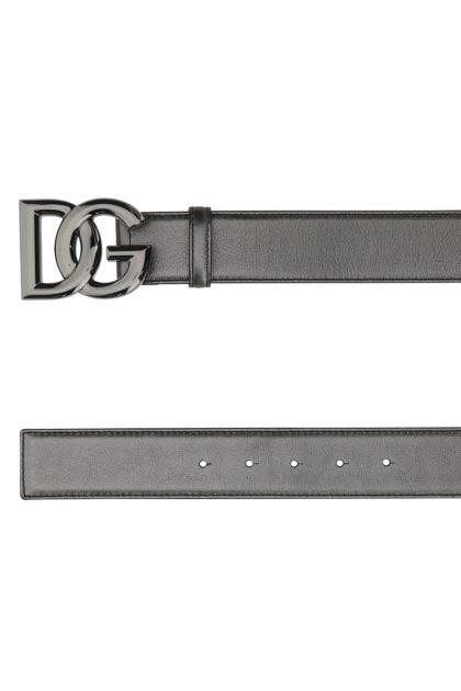 Lead leather belt