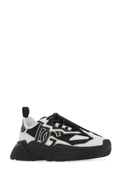 Two-tone nylon and leather Daymaster sneakers
