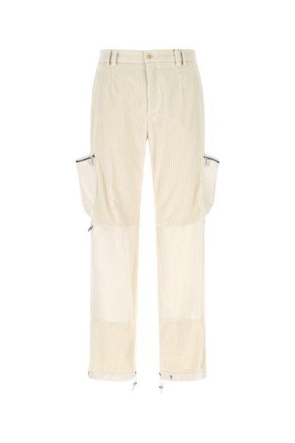 Ivory stretch corduroy pant