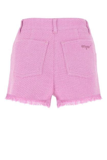 Dark pink tweed shorts