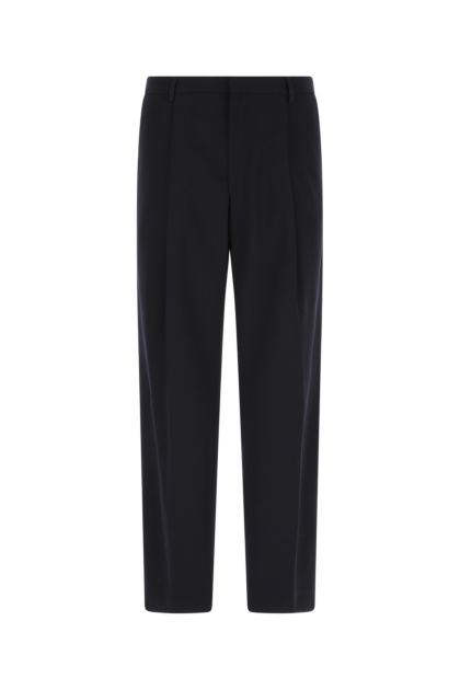Midnight blue polyester blend pant