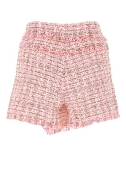 Multicolor tweed shorts