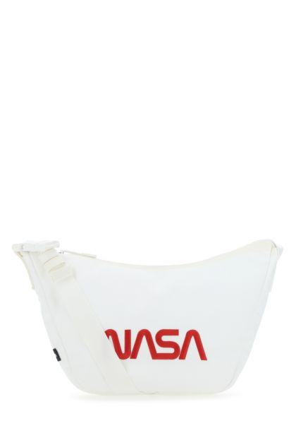 White nylon crossbody bag