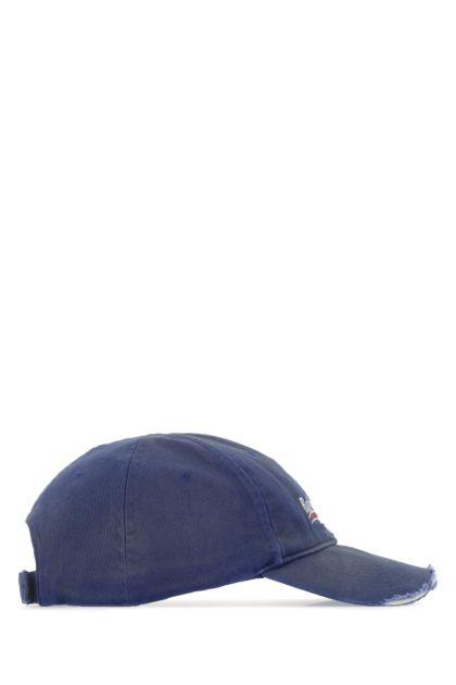 Blue cotton baseball cap