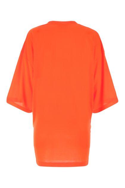 Fluo orange polyester oversize t-shirt