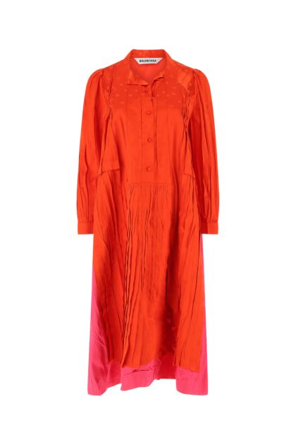 Two-tone viscose dress