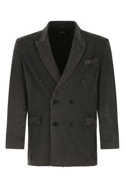 Charcoal cotton blazer