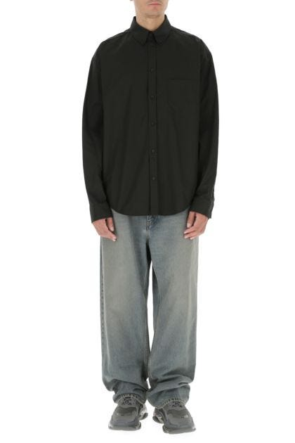 Black cotton oversize shirt