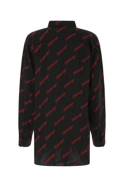 Embroidered viscose blend shirt